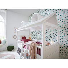 #Kinderbett - #Kojenbett mit #Beachhouse - Aufbau - aus #nordischer #Kiefer für Kinder ab dem 3. Lebensjahr. Bunk Beds, Kids Bedroom, Toddler Bed, Loft, Furniture, Amelie, Home Decor, Quartos, Cooking