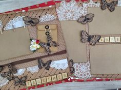 - Double page scrapbook layout made with Kaisercraft Mix and Match Collection Mix N Match, Scrapbooking Layouts, Scrapbooks, Projects To Try, Paper Crafts, Gift Wrapping, Inspiration, Design, Ink