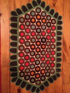 Early American Antique Table Runner Primitive Textile Rug Sold $300