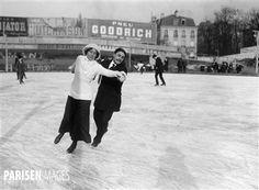 Patinage sur glace, 1912.