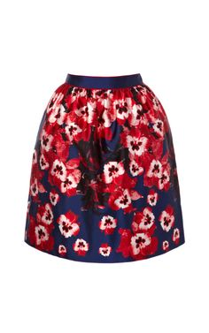 pansy printed silk gathered skirt prabal gurung resort2014 m'oda 'operandi