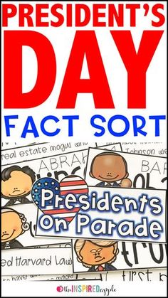 Check out this fun Presidents' Day activity perfect for kindergarten, first grade, and second grade students! Your kids will love to learn fun facts about George Washington, Abraham Lincoln, Barack Obama, and Donald Trump. Sort the facts as a whole class and complete the individual fact sort sheets. This is a great way to teach about the presidents in a fun and engaging way!