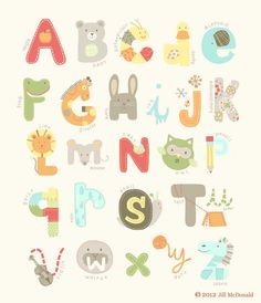 new Jill McDonald alphabet