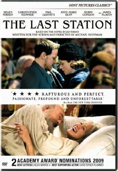 The Last Station- A historical drama that illustrates Russian author Leo Tolstoy's struggle to balance fame and wealth with his commitment to a life devoid of material things. Stars: Helen Mirren, James McAvoy and Christopher Plummer Best Period Dramas, Period Drama Movies, Love Movie, Movie Tv, Movies To Watch, Good Movies, Funny Movies, The Last Station, Amazon Prime Movies