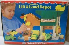 Fisher Price: 1977 Play Family LIFT and LOAD DEPOT #Vintage #Toys