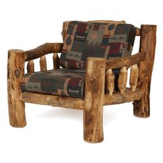 Colorado Aspen Log Furniture - Living Room Chair Aspen Living Room Furniture Colorado Aspen Log Living Room Chair Relax in your mountain lodge on the