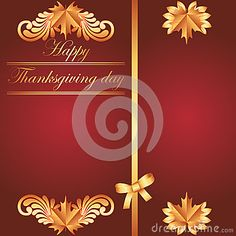 Happy Thanksgiving background with maple leaf