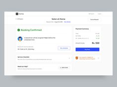 Booking Confirmation - Web by Fozail Ahmed for Urban Company Design (formerly UrbanClap) on Dribbble Web Design, Flyer Design, Booking Information, Confirmation Page, Bar Chart, Urban, Shots, Illustration, Stencils