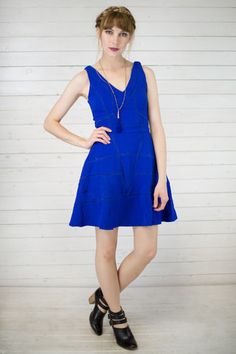 Bonnie Fit N Flare Dress #shopmaude www.shopmaude.com