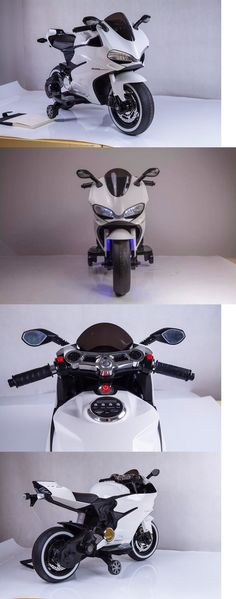 Ride On Toys and Accessories 145944: 12V Kids Ride On Mini Bike Motorcycle White Electric Battery Powered Tron Style -> BUY IT NOW ONLY: $179.99 on eBay!
