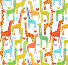 LAST YARD  Michael Miller  Giraffe Love by JeanMariesFabrics