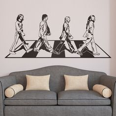 Vinilos Decorativos: Abbey Road #academia #ingles #abbey #road #beatles #Londres #vinilo #pared #decoracion #TeleAdhesivo