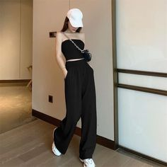 Casual Dress Outfits, Edgy Outfits, Girl Outfits, Cute Outfits, Ulzzang Fashion, Kpop Fashion Outfits, Korean Fashion, Women's 20s Fashion, Girl Fashion