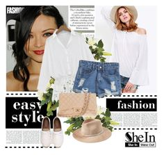 """""""SheIn 10/V"""" by nermina-okanovic ❤ liked on Polyvore featuring Chanel, Eugenia Kim, women's clothing, women's fashion, women, female, woman, misses and juniors"""