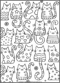 Incredible Coloring: SPELL cats with this Cool Cats coloring e-book. 4 free instance ...  #coloring #instance #spell