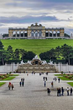 Schonbrunn Palace, Vienna, Austria....The gardens are amazing. I took pic here! Places I have been and would love to go back