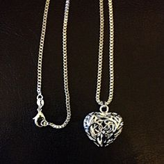 925 sterling silver Hollow Heart