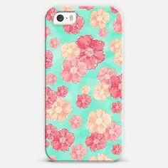 Blossoms (Aqua Background) iPhone 5s case by Lisa Argyropoulos | Casetagram