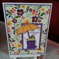 Weather Umbrella, Umbrella Cards, Under My Umbrella, Paper Pumpkin, Umbrellas, Stampin Up Cards, Stamping, Card Ideas, Celebration