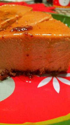 Flan de queso con Chocolate y Calabaza ( pumpkin ) Holiday  Creations