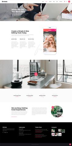 Introduce everything you do in a stunning manner with Arrosa WordPress theme. Creative Portfolio, Ux Design, Manners, All Modern, Creative Business, Wordpress Theme, Colorful, Amazing, Ui Design