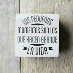 Frase: Los pequeños detalles son los que hacen grande la vida.
