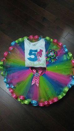 Poppy trolls tutu set poppy trolls Birthday by Glamourousheadband