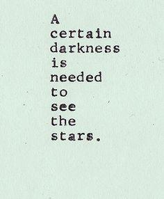Darkness required