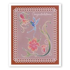 Jayne's Hummingbirds & Trumpet Lilies A5 Square Groovi Plate Set – Claritystamp Clarity Card, Trumpet Lily, Embossing Tool, Parchment Cards, Clever Design, Paper Cards, Plate Sets, Art Studios, Making Ideas