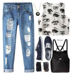 """""""Casual Summer"""" by naomimjc ❤ liked on Polyvore featuring Chicnova Fashion, Vans, Dolce&Gabbana, Nikki Strange and Studio Silver"""