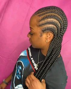 # feed in Braids cornrows Long braids hairstyles Box Braids Hairstyles, Braided Cornrow Hairstyles, Black Girl Braided Hairstyles, Braids Cornrows, Cute Cornrows, Small Feed In Braids, Jumbo Cornrows, Feed In Braids Ponytail, Cornrow Braid Styles