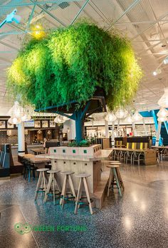 In collaboration with Wingårdh, Green Fortune has invented a new tree. To be seen at Emporia food court in Malmö.