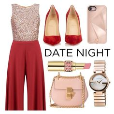 """""""Valentine's Day"""" by minchu ❤ liked on Polyvore featuring Boohoo, Chloé, Christian Louboutin, Rebecca Minkoff, Gucci and Yves Saint Laurent"""
