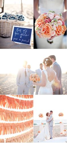 Bottom left i think thats a great idea at a beach wedding to maybe have the guests write you notes and attach them to the string, more spaced out would be better i think Wedding Themes, Wedding Blog, Diy Wedding, Wedding Events, Wedding Planner, Destination Wedding, Wedding Flowers, Dream Wedding, Wedding Day