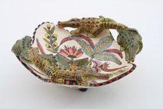 Crocodile Bowl - Ceramic by Ardmore