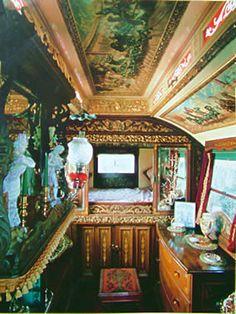 Decorating a gypsy caravan.