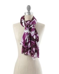 White House | Black Market Floral Scarf @Lindsey Grande Found the scarf on sale too!