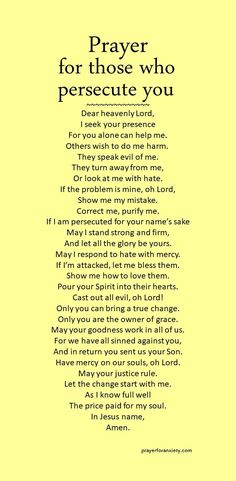 Pray for those who persecute you. In this way you imitate Christ.