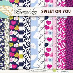 Digital Scrapbooking Kit - SWEET ON YOU Page Kit | ForeverJoy Designs
