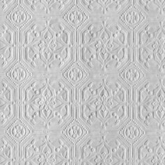 Derby / Classical (RD124) - Anaglypta Wallpapers - An embossed wallcovering suitable for use in areas of high durability. Classic square tiled design with ornate detail.  This wallcovering is white and is designed to be painted a colour of your choice. Please ask for a sample to see true texture match. Pattern repeat is 8.9cm.