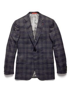 ISAIA Plaid Two-Button Wool Blazer. Reminds me of one of his jackets.