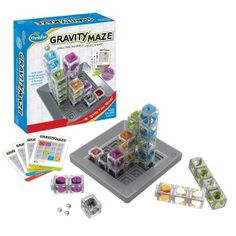 "Gravity Maze by ThinkFun is sure to put your visual perception and reasoning skills to the test. The colorful, translucent towers can be arranged in a plethora of visually stimulating structures but, for each challenge, you'll have to think carefully to build a path that will successfully carry your marble to its target. This ""Best Toys Award Winner of 2014"" includes 60 challenges, ranging in difficulty, and is great for children ages 8+"