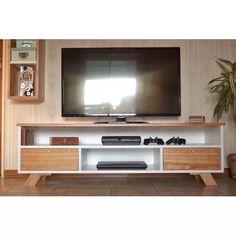Mesa Tv Consola Madera Paraiso Nordico Escandinava Laqueada - $ 6.490,00