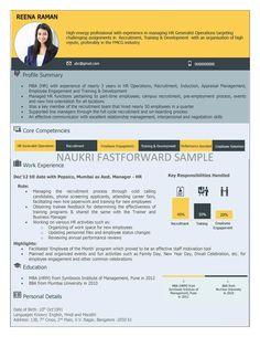 Visual Resume Samples