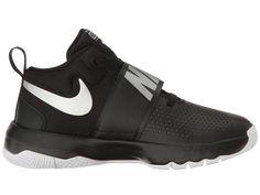 Nike Kids Team Hustle D8 (Big Kid) Boys Shoes Black/Metallic Silver/White