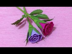 How to Make Small Rose Crepe Paper flowers - Flower Making of Crepe Paper - Paper Flower Tutorial - YouTube