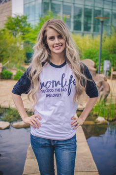 Mom Life Baseball Tee available at J. Lilly's Boutique or jlillysboutique.com