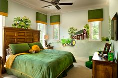 I like the green comforter with yellow sheets, possibly brown comforter green sheets with yellow pillow shams?