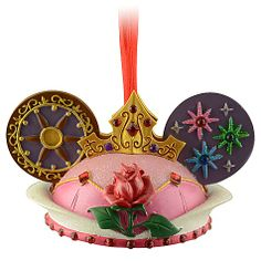 A pink side and a blue side to make everyone happy. Ear Hat Aurora Ornament