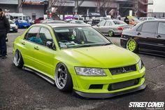 #Mitsubishi_Evo #Slammed #Stance #Camber #Modified